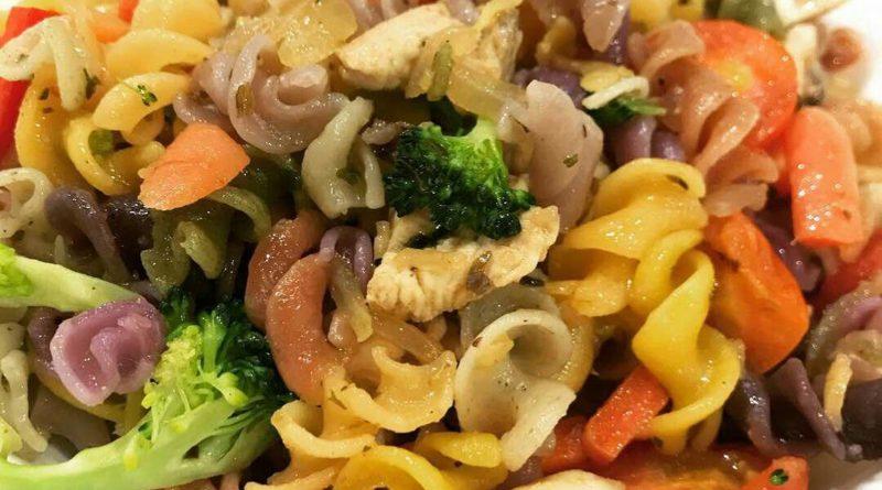 mixed vege pasta, eatalian express