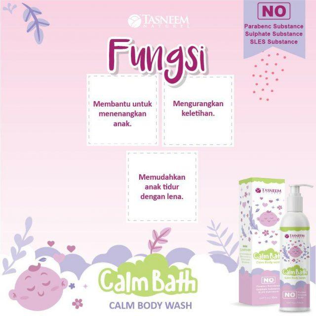 fungsi calm bath body wash tasneem naturel