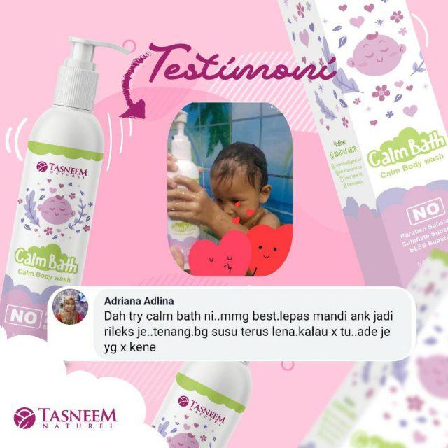 testimoni calm bath tasneem naturel